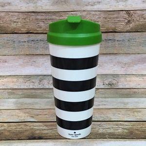Kate Spade Black Stripe Thermal Mug – 16 oz.